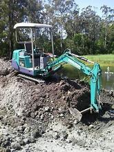 KOMATSU PC05-7 EXCAVATOR RUBBER TRACKS MUD BKT AND 2 X GP`S Lake Macquarie Area Preview