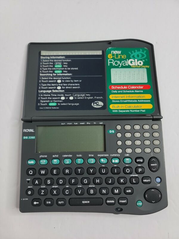 Royal DS2260 Organizer 256kb Tested Working