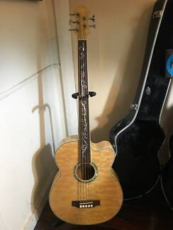 Cusrom 4 string bass guitars amps gumtree australia logan area acoustic bass guitar with case and new strings fandeluxe Gallery