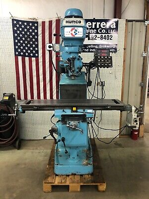 Hurco Sm1 Milling Machine W Dro And Collets