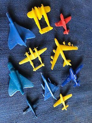 Vintage 1950s Kellogg's Pep Cereal Premium Plastic Jet Airplane Lot of 10