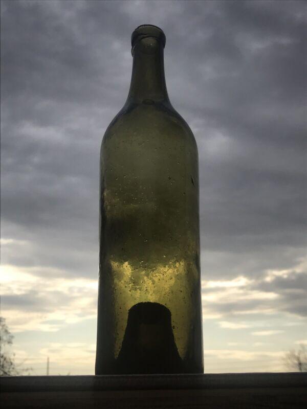 Early California Viticulture Hand Blown Bordeaux Wine Bottle Deep Punt c.1860