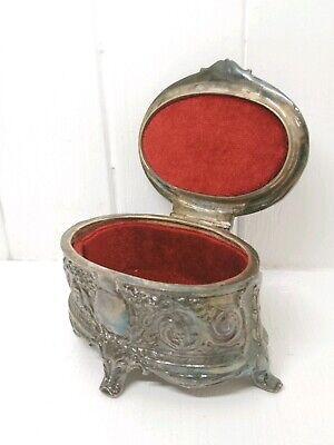 Vintage Georgian Inspired Silver Plated Regan Trinket Box/Jewellery Box.