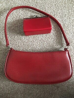 Vintage Red Bag And Purse