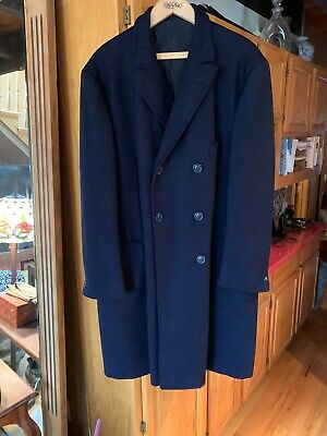 Tiger of Sweden PURE WOOL Double Breasted Overcoat 44