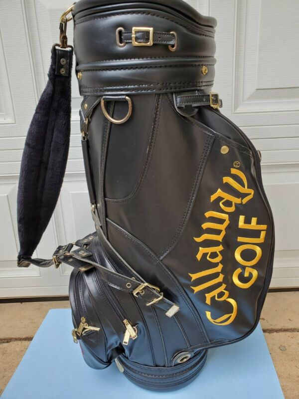 Vintage Callaway S2H2 Golf Cart Staff Bag Black Gold Very Nic Condition no Cover