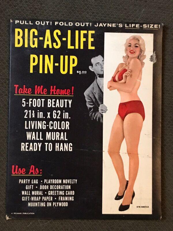 Jayne Mansfield - Original 1956 Pin Up Poster in Packaging -