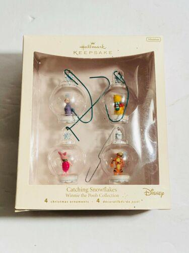 Hallmark Keepsake Winnie the Pooh Catching Snowflakes 2007 Ornaments Set Of 4