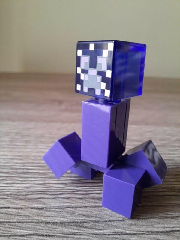 LEGO+Minecraft+minifigure+purple+enchanted+Creeper+new+from+21176+set