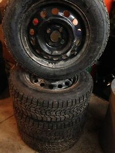 Firestone winterforce tires on 4x100mm rims