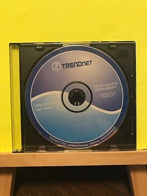 Pre-owned ~ Trendnet Utility & Driver User's Guide Software Disc PC CD-Rom 2007
