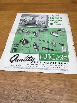 LUCAS / JUBILEE (clips) / MARCHAL Add / Leaflet Brochure From The Early 1950's.