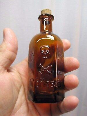 Skull & Crossbones Giftflasche  Amber Glass Poison Bottle  100ml Size B7213
