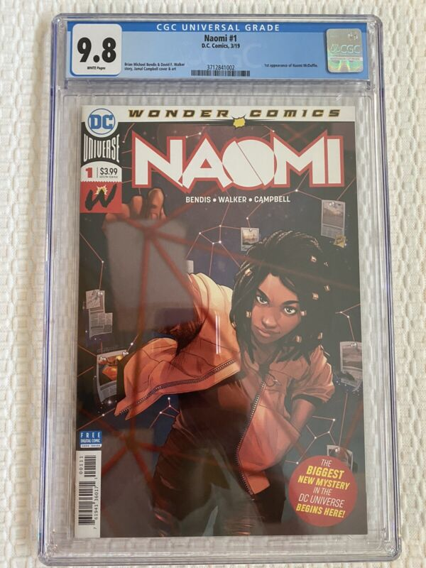 Naomi 1 CGC 9.8 First Appearance 1st Print Cover DC Comic Brian Michael Bendis