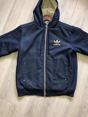 Adidas Jacket Men Denim  Medium Rare Vintage