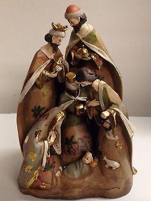 "17"" Nativity Scene Resin Statue Holy Family Christmas Decor"