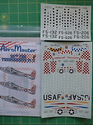 1:72 Scale Decals 86th FBG Thunderjets Pt. II AeroMaster No.72-196 F-84G