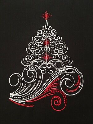 EMBROIDERED  CHRISTMAS TREE  - QUILT BLOCK- ()