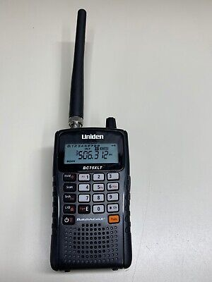 Uniden BC75XLT Portable Handheld Police Fire EMS Scanner *FULLY FUNCTIONAL*