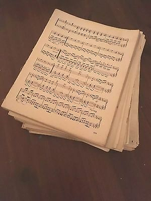 1 Kg Of Vintage Sheet Music Paper, Decoupage, Art Projects, Crafting, Shabbychic