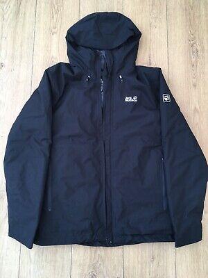 jack wolfskin waterproof jacket Black Mens L/42