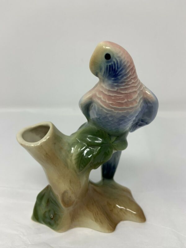 Royal Copley Parrot Bird Flower Bud Vase