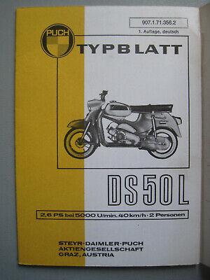 L816: Steyr Daimler Puch DS50L Typenblatt 1. Auflage Neuwertig vom Archiv