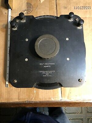 Vintage Leeds Northrup Variable Inductor Self Inductance Henrys 136207