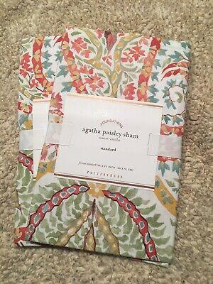 Set/2 Pottery Barn Agatha Paisley Pastel Standard Shams Beautiful!!