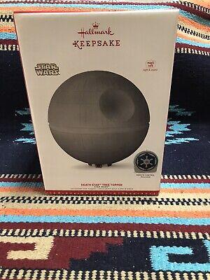 Hallmark Star Wars Death Star Christmas Tree Topper Magic Cord Light & Sound8446