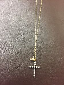 10kt gold cross necklace