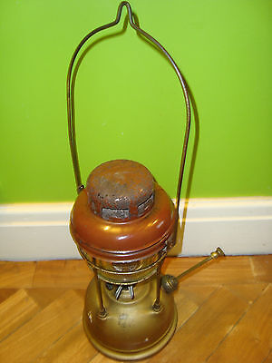 VINTAGE 1950's TILLEY LAMP ENAMEL TOP ORIGINAL GLASS GOOD CONDITION