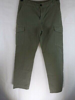 Paul Smith Zip Fly Cargo Style Jean Trousers Green Size 33 MP-003