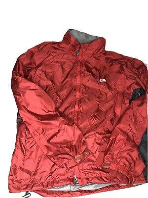 The North Face Men Jacket Large Windbreaker Stow Pocket Hyvent Fleece Lined Blue
