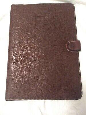 Nino Cerruti Leather Portfolio Notepad Cover Nijenrode University 12.75 X 9