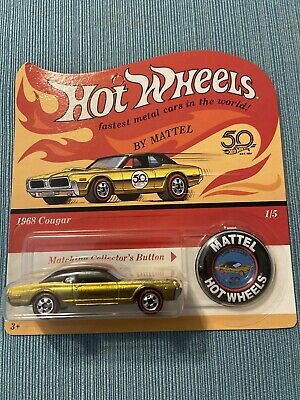 Hot Wheels 2018 50tth Anniversary 1968 Cougar Error Missing Tampo New