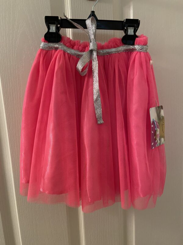 Everbloom Studio Bright Pink Tulip TuTu Tulle Skirt Girls Size 4T NWT