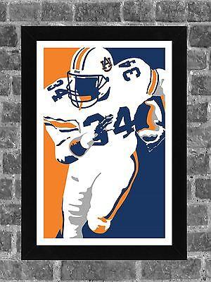 Auburn Tigers Bo Jackson Portrait Sports Print Art 11X17