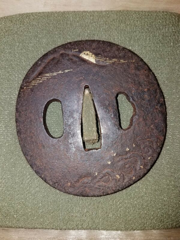 #152 OLD IRON TSUBA. Mountain. Waves.