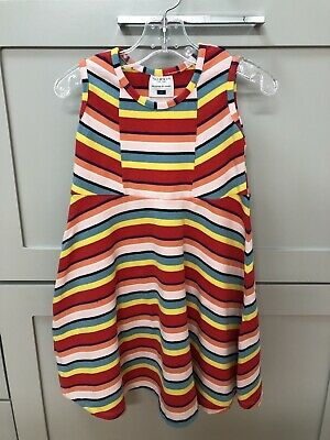 Toobydoo Toddler Girls Dress Size 5 Rainbow Play Condition