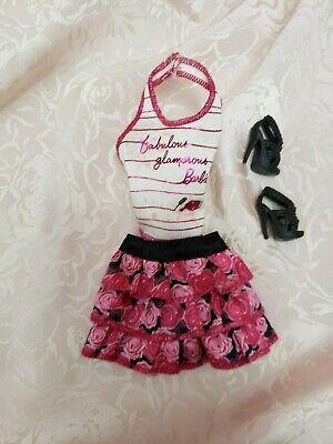 Barbie Fashion With Black Shoes
