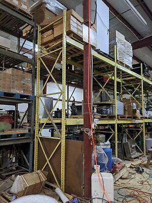 9 Section 14.5 Upright Speedrack Pallet Racking Warehouse Shelving 8 Beam 96