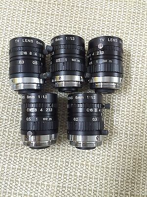 1pcs Used good TV LENS 8mm 1:1.3 C mount