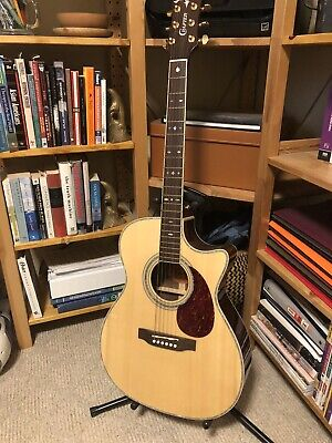 Crafter TC035 Right Handed electro-acoustic guitar with hard case
