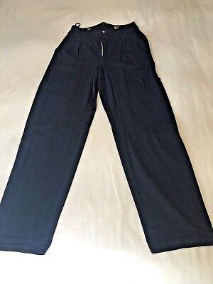 Kansai Yamamoto pants ,unisex,WESTERN INDIGO PLEATS