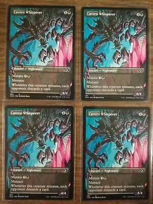 Cavern Whisperer Showcase Art x4 NM Ikoria: Lair of Behemoths IKO MTG