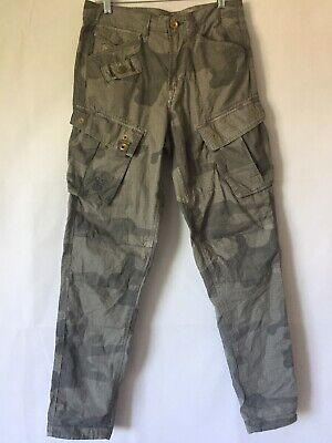 G Star Raw Camo Pants Size 28x32 Military Cargo Army Tapered Light Green