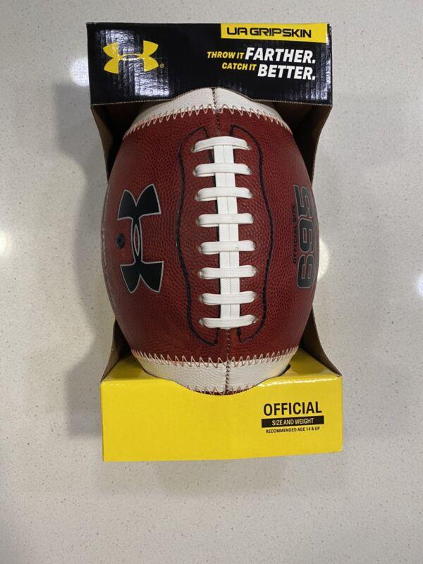 UA UNDER ARMOUR 695 GRIPSKIN OFFICIAL SIZE FOOTBALL BALL, NEW, UA304, NFHS