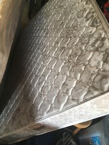 Double mattress and box spring inc. metal frame
