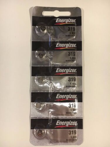 5 New Energizer 319 Silver Oxide Watch Batteries 1.55v- Usa Seller